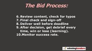 the bid process